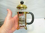 Vintage Pyrex Glass And Metal French Coffee Press That Is In Excellent Shape