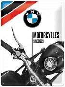 A3 Retro Tin Metal Embossed Sign Bmw - Motorcycles Since 1923 Licensed 40cmx30cm