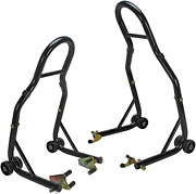 Sport Bike Motorcycle Front And Rear Spool Style Lift Stands And Good Quality