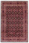 7and0391 X 10and0391 Hand Knotted Wool Navy Fine Hamedan Shahr-baft Oriental Rug Carpet