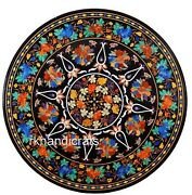 48 Inches Multi Gemstones Inlaid Living Room Table Top Marble Dining Table Top