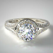 Excellent Round 0.99 Ct Real Diamond Wedding Ring Solid 950 Platinum Size 7 8 9