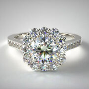 Solid 950 Platinum 1.24 Ct Real Diamond Gorgeous Anniversary Ring Size 6 7 8 9 4