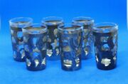 Group Of Six 6 Vintage Mexican Open-work Sterling Silver Shot Glass Inserts