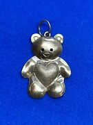 14k Yellow Gold Teddy Bear 🧸 Charm With A ❤ Belly