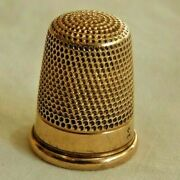 Antique 14k Yellow Gold Sewing Thimble - 5.7 Grams