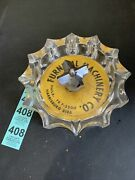 Furnival Machinery Company Philadelphia Large Pointed Glass And Metal Ashtray
