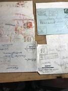 4 Rare Ww2 German Stamp Envelope Letter From Soldier Ww11 Lphl