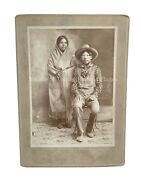 Vintage 1900s Chinese And Native American Western Social History Photo