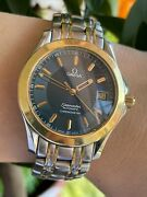 Omega Seamaster 120m Chronometer Automatic 168.1501 Gold Andsteel Mens Swiss Made
