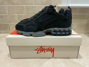 Authenticated Nike Air Zoom Spiridon Cage 2 Stussy Black Cq5486-001 Size 8