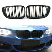 Fit For Bmw F22/f23 2-series 14-18 Black Double Front Centre Bumper Grille Cover