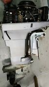 1990and039s Johnson 50hp Outboard Engine 2 Stroke 20 Shaft - Needs Lower Unit