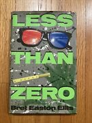 Less Than Zero By Bret Easton Ellis 1st Edition Later Printing - Hardcover