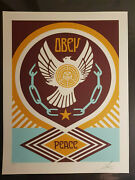 Peace Series 2 Doves Shepard Fairey Obey X Poster Child Prints 3 Set 29 Of 250