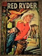 Rare Vintage Comic Book Red Ryder May 1955 Dell 142 Little Beaver Fred Harman