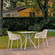 Siesta Air Xl Dining Set With 2 Arm Chairs White Isp7002s-whi