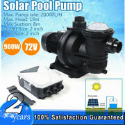 900w In/above Ground Pond Dc 72v Solar Swimming Pool Pump Dc Brushless Motor