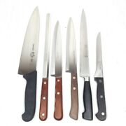 Lot 6 Chef Knives And Others Victorinox,case Xx, Lc Germain Sabatier, Flint Kitche