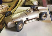 1950and039s Jnf Mercedes Silver Arrow W 196 Battery Op 13 Inch Tin Toy Race Car 3