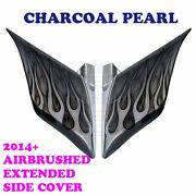 Charcoal Pearl Airbrush Stretch Extend Side Cover For 14+ Harley Street Road C2