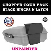 Unpainted Chopped Tour Pack Black Hinge Latch For 97-20 Harley Street Touring