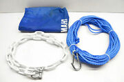New Oem Yamaha Mwv-anchr-kt-00 Portable Anchoring Rope And Chain Kit Nos