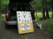1967-69 Pepsi Cola Pours It On Large 45 Tall 30 Wide Working Electric Clock