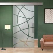 40 X 84 Sliding Glass Barn Door With Frosted Design Semi-private 30 Off