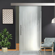 34 X 81 Sliding Frosted Glass Barn Door Full-private 30 Off
