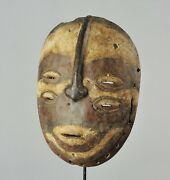 Very Rare Initiation Bembe Mask Congo Drc African Tribal Art 1301