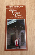 Vintage Hotel Grand Union New York Ny In The Heart Of The Big Apple Brochure