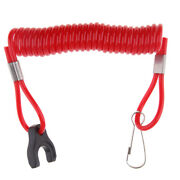 Red Boat Marine Kill Stop Switch Key Lanyard Fit For Tohatsu Outboard