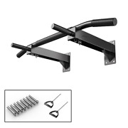 440lbs Fitness Wall Mount Chin Pull Up Bar Traning Horizontal Bars Home Gym Exer