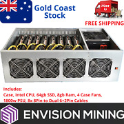 Btc-t37 8 Gpu Mining Rig Server Case All In One Crypto Ethereum Mining System