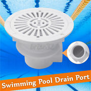 Swimming Pool Main Drain Port Bottom Spa Water Outlet Suction Accessory White