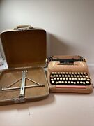 Vintage 1957 Smith-corona Silent-super 5t Pink Typewriter With Case