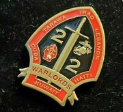 Marine Corps Warlords Sgt Major Lt Col 2nd Bn 2nd Marines Raiders Challenge Coin