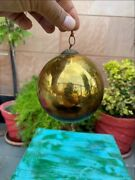 Collectible Glass Made Gold Christmas Decoration Tree Kugel Ornament Ball