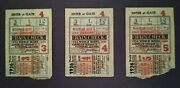 1936 World Series---games 3, 4, And 5---same Seat Sold As One Lot Reduced