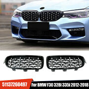 Gloss Black Front Kidney Grille Grills For Bmw F30 328i 335i 2012-2018 New Style