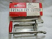 Vintage Collectible Ekco Miracle French Fry Cutter With Box-diner-camping-farm