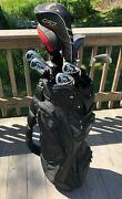 High End Mens Complete Golf Club Set And Bag, Callaway, Titleist, Ping And Adams