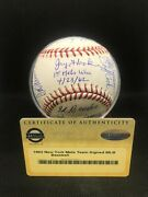 1962 New York Mets First Win Autographed Baseball Steiner Authenticity