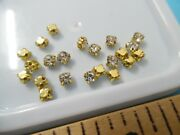 Glass Rhinestone Doll Buttonsgold Set3mm20pcand039smodernantiquevintage