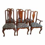 Ethan Allen Georgian Court Solid Cherry Traditional Style Dining Chairs Lot Of 6