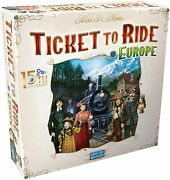 Ticket To Ride Europe Board Game 15th Anniversary Deluxe Edition In Stock Nis