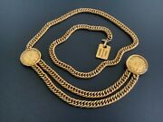 Rare Vintage Gold Plated 31 Rue Cambon Chain Link Belt