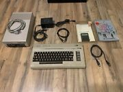 Commodore 64 With 1541 Floppy Disk Controller And Easy Calc Software