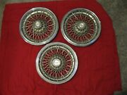 3 Vintage Used Oem 1978-1980 Chevrolet Caprice 15 Inch Wire Wheel Covers
